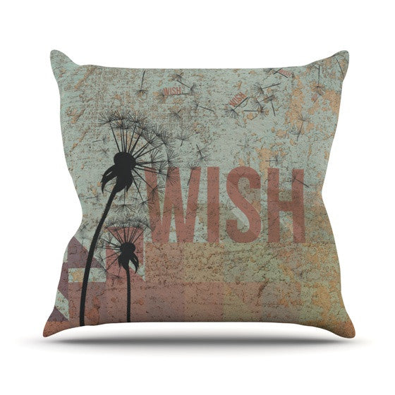 "KESS Original ""Wish"" Outdoor Throw Pillow - KESS InHouse  - 1"