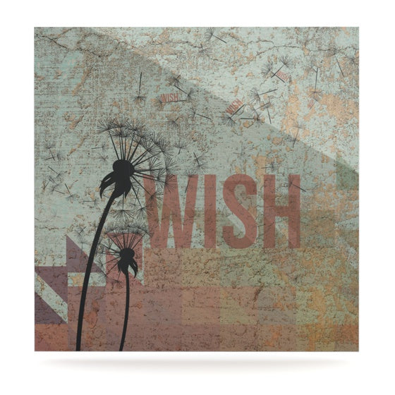 "KESS Original ""Wish"" Luxe Square Panel - KESS InHouse  - 1"
