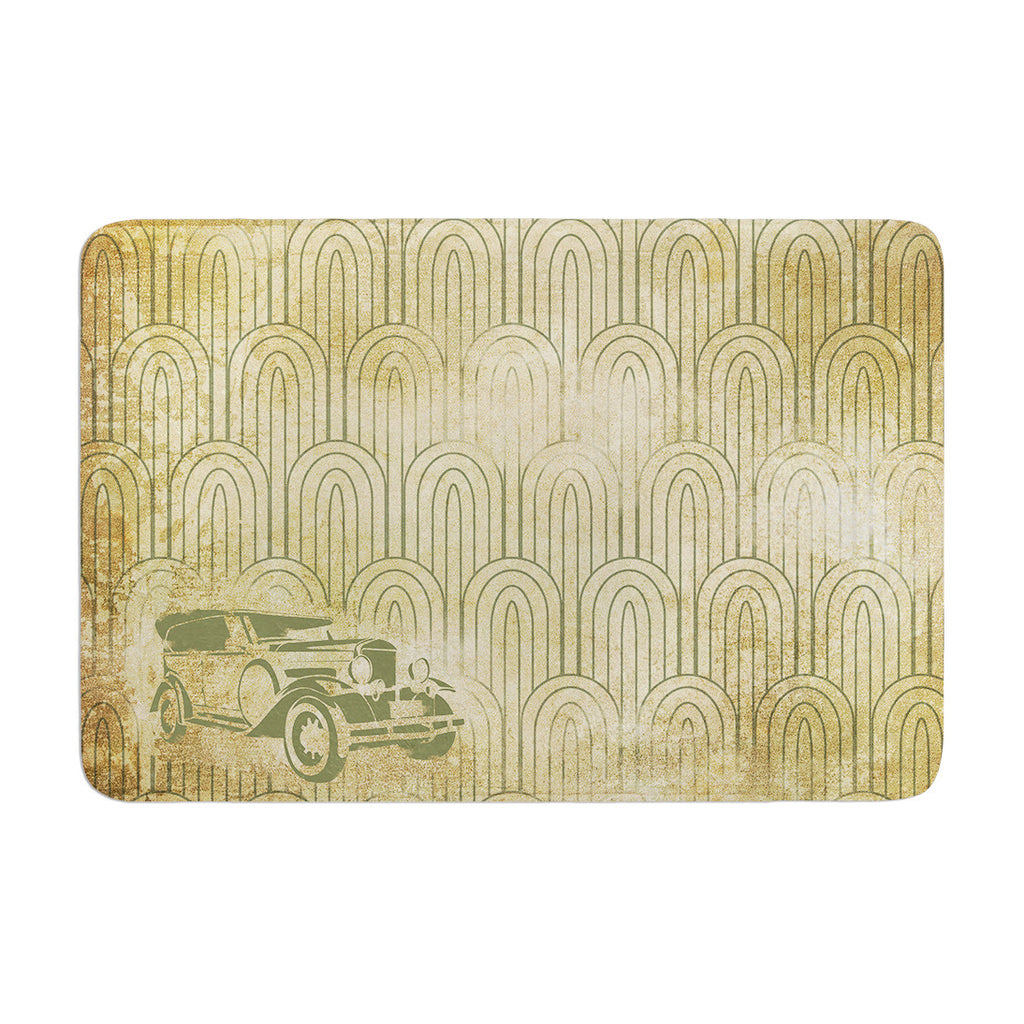 "KESS Original ""Deco Car"" Memory Foam Bath Mat - KESS InHouse"