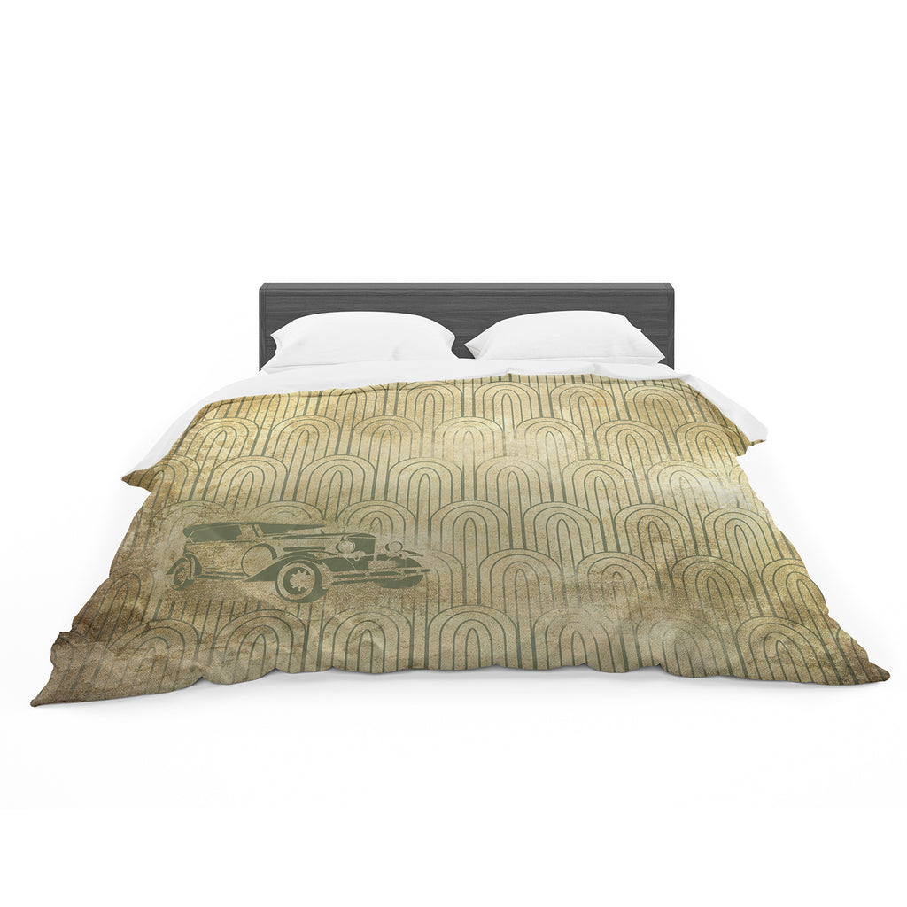 "KESS Original ""Deco Car"" Cotton Duvet"