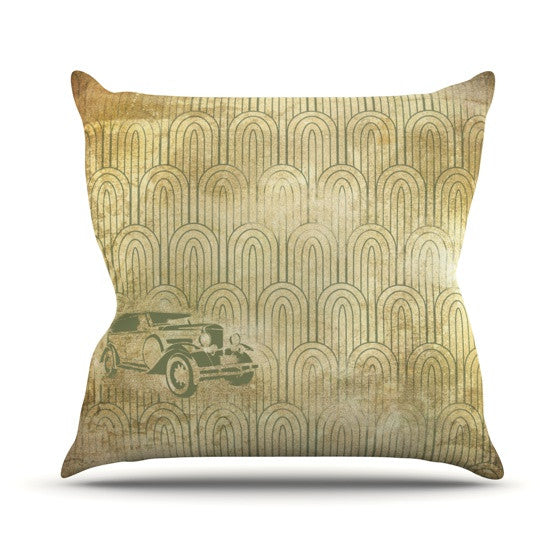 "KESS Original ""Deco Car"" Outdoor Throw Pillow - KESS InHouse  - 1"