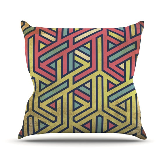 "KESS Original ""Deco"" Throw Pillow - KESS InHouse  - 1"
