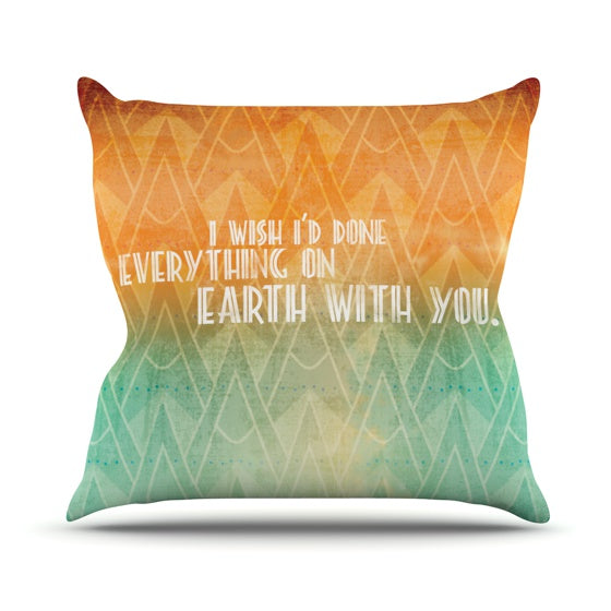 "KESS Original ""Deco II"" Throw Pillow - KESS InHouse  - 1"