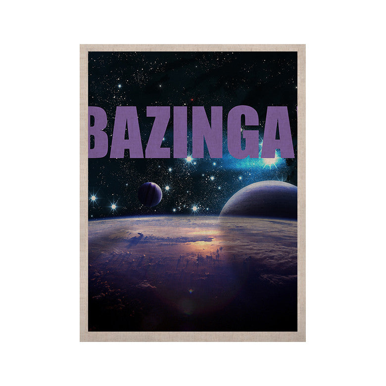 "KESS Original ""Bazinga Purple"" Space KESS Naturals Canvas (Frame not Included) - KESS InHouse  - 1"