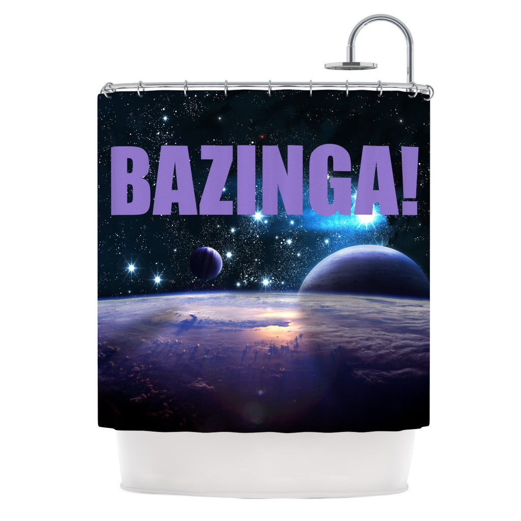 "KESS Original ""Bazinga Purple"" Space Shower Curtain - KESS InHouse"