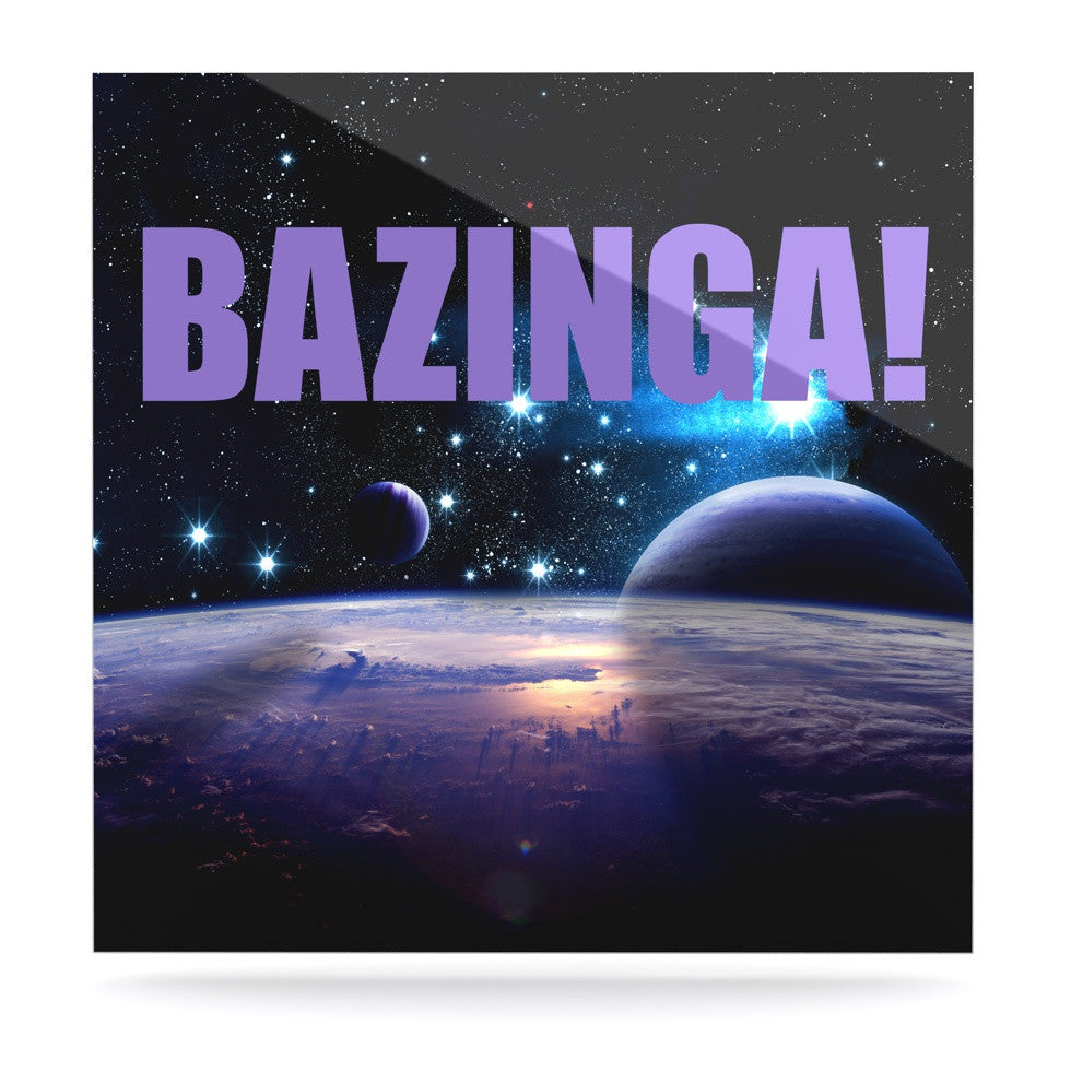 "KESS Original ""Bazinga Purple"" Space Luxe Square Panel - KESS InHouse  - 1"
