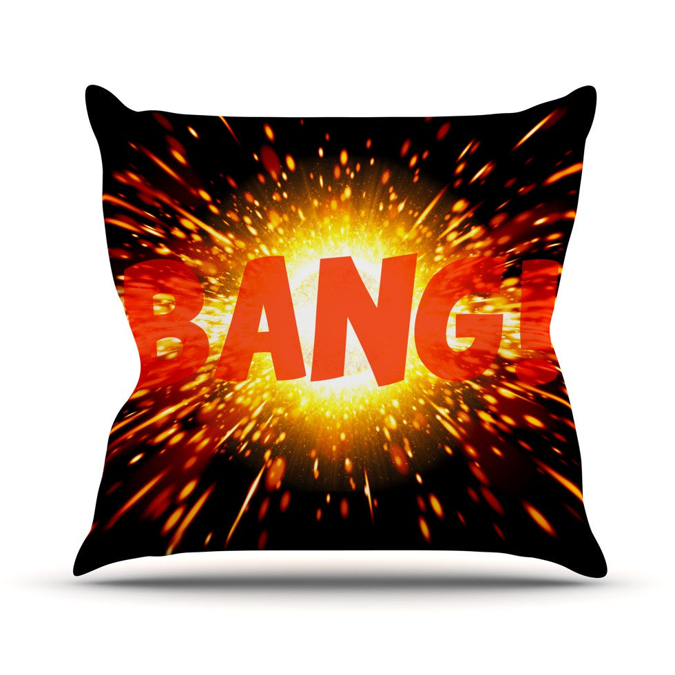 "KESS Original ""Bang"" Throw Pillow - KESS InHouse  - 1"
