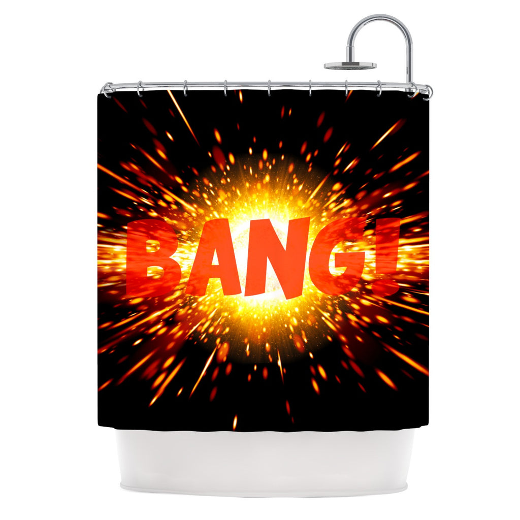"KESS Original ""Bang"" Shower Curtain - KESS InHouse"