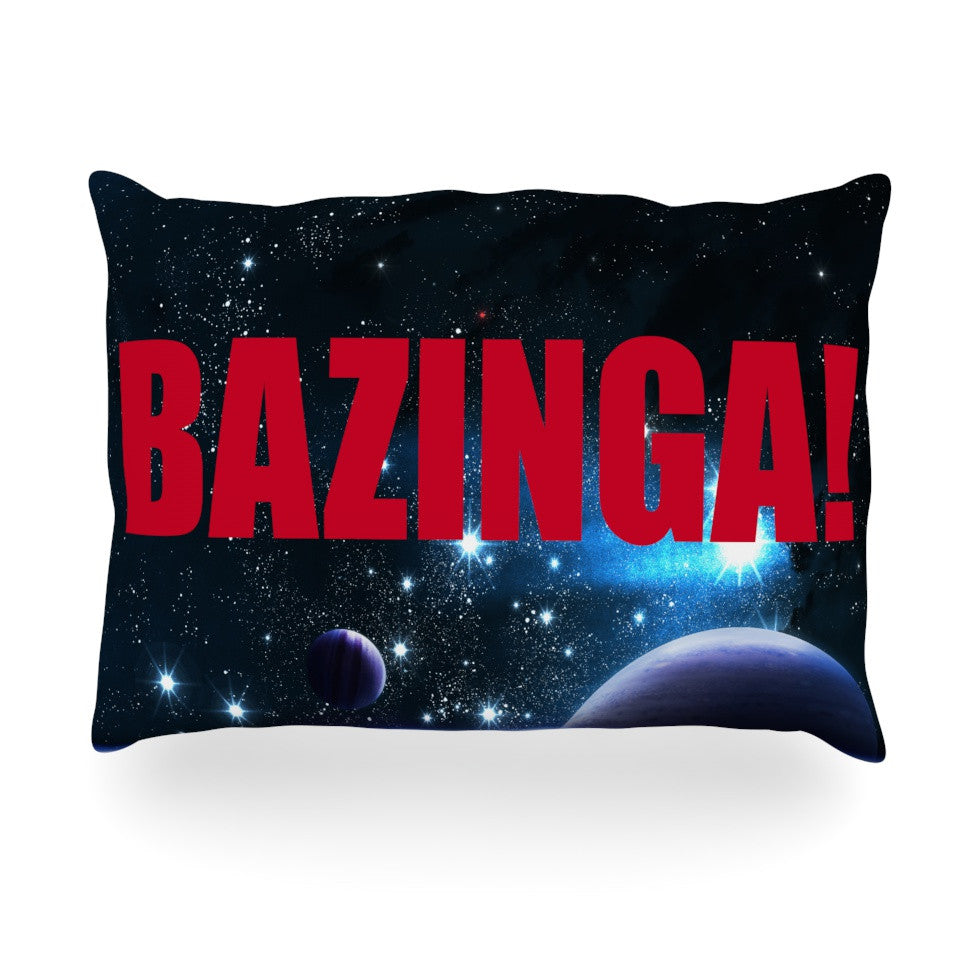 "KESS Original ""Bazinga Red"" Oblong Pillow - KESS InHouse"