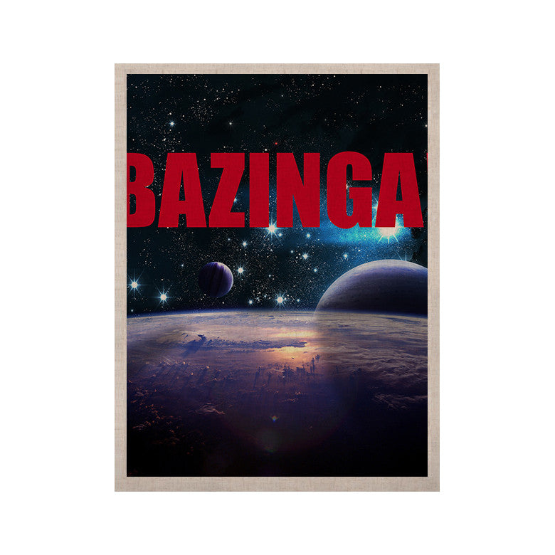 "KESS Original ""Bazinga Red"" KESS Naturals Canvas (Frame not Included) - KESS InHouse  - 1"