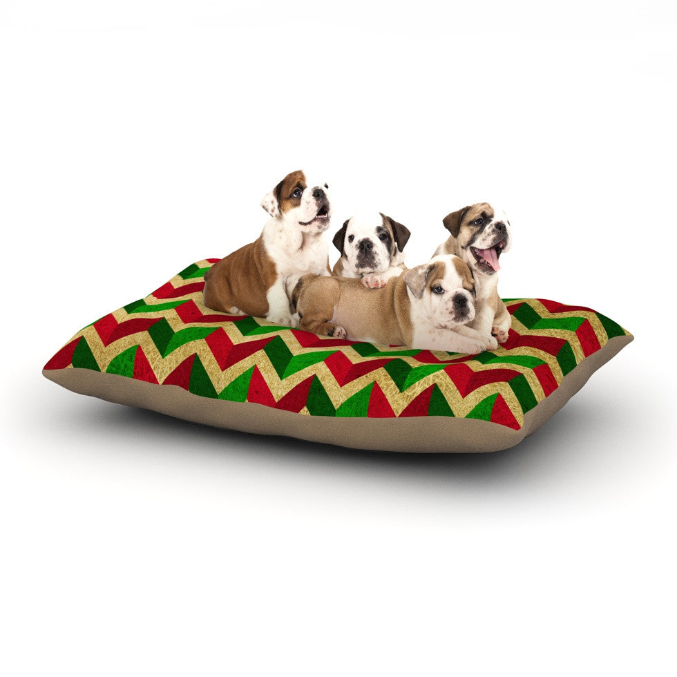 "KESS Original ""Herringbornaments"" Dog Bed - KESS InHouse  - 1"