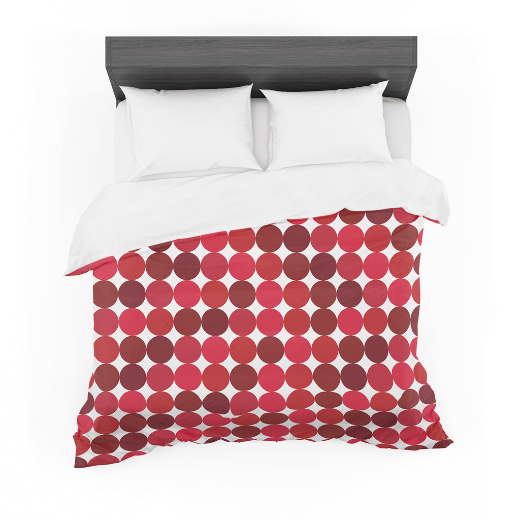 "KESS Original ""Noblefur Red"" Dots Cotton Duvet"
