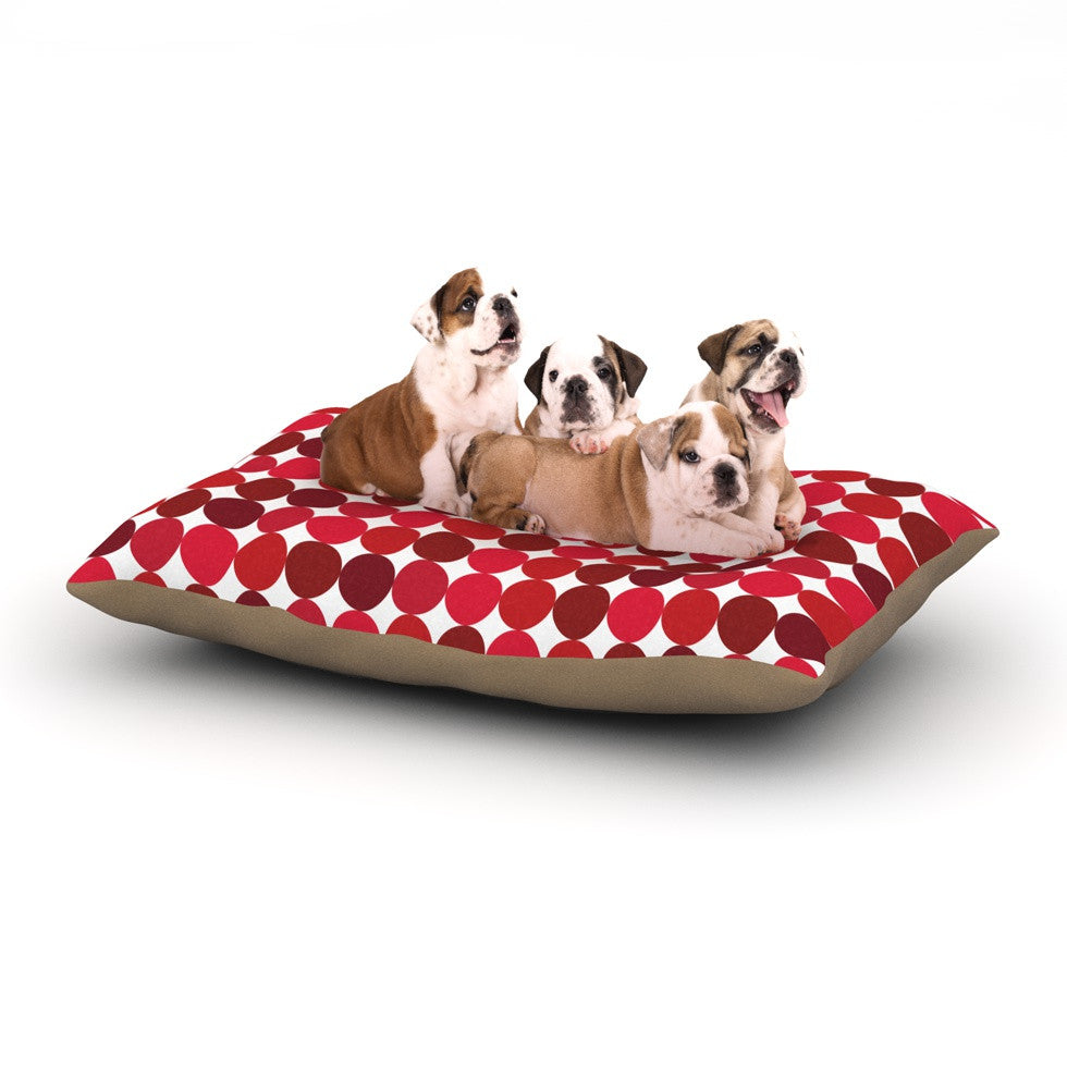"KESS Original ""Noblefur Red"" Dots Dog Bed - KESS InHouse  - 1"