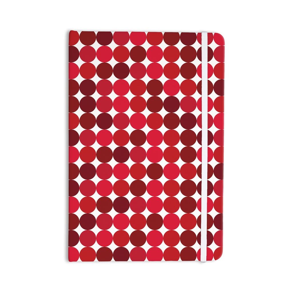 "KESS Original ""Noblefur Red"" Dots Everything Notebook - KESS InHouse  - 1"
