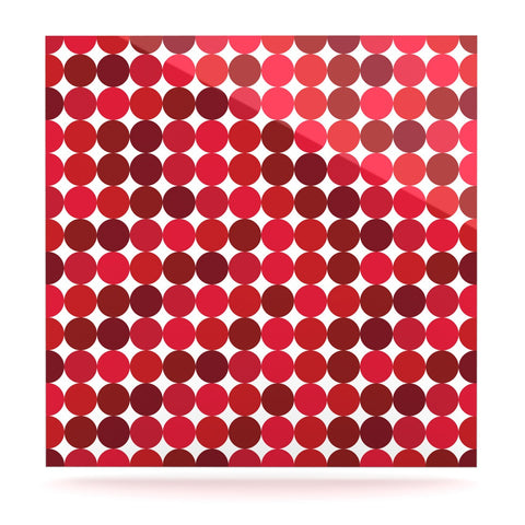 "KESS Original ""Noblefur Red"" Dots Luxe Square Panel - KESS InHouse  - 1"