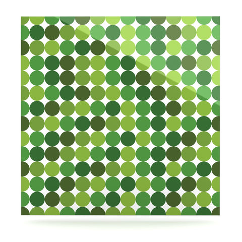 "KESS Original ""Noblefur Green"" Dots Luxe Square Panel - KESS InHouse  - 1"
