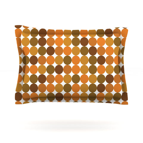 "KESS Original ""Noblefur Orange Harvest"" Pillow Sham - Outlet Item"