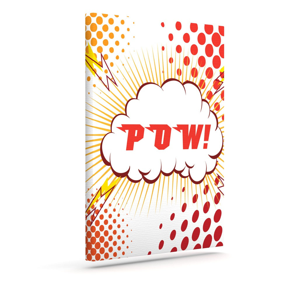 "KESS Original ""POW!"" Cartoon Outdoor Canvas Wall Art - KESS InHouse  - 1"