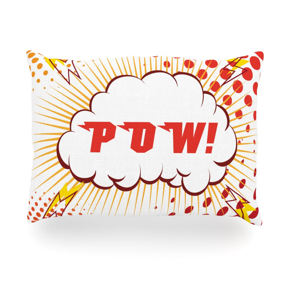"KESS Original ""POW!"" Cartoon Oblong Pillow - KESS InHouse"