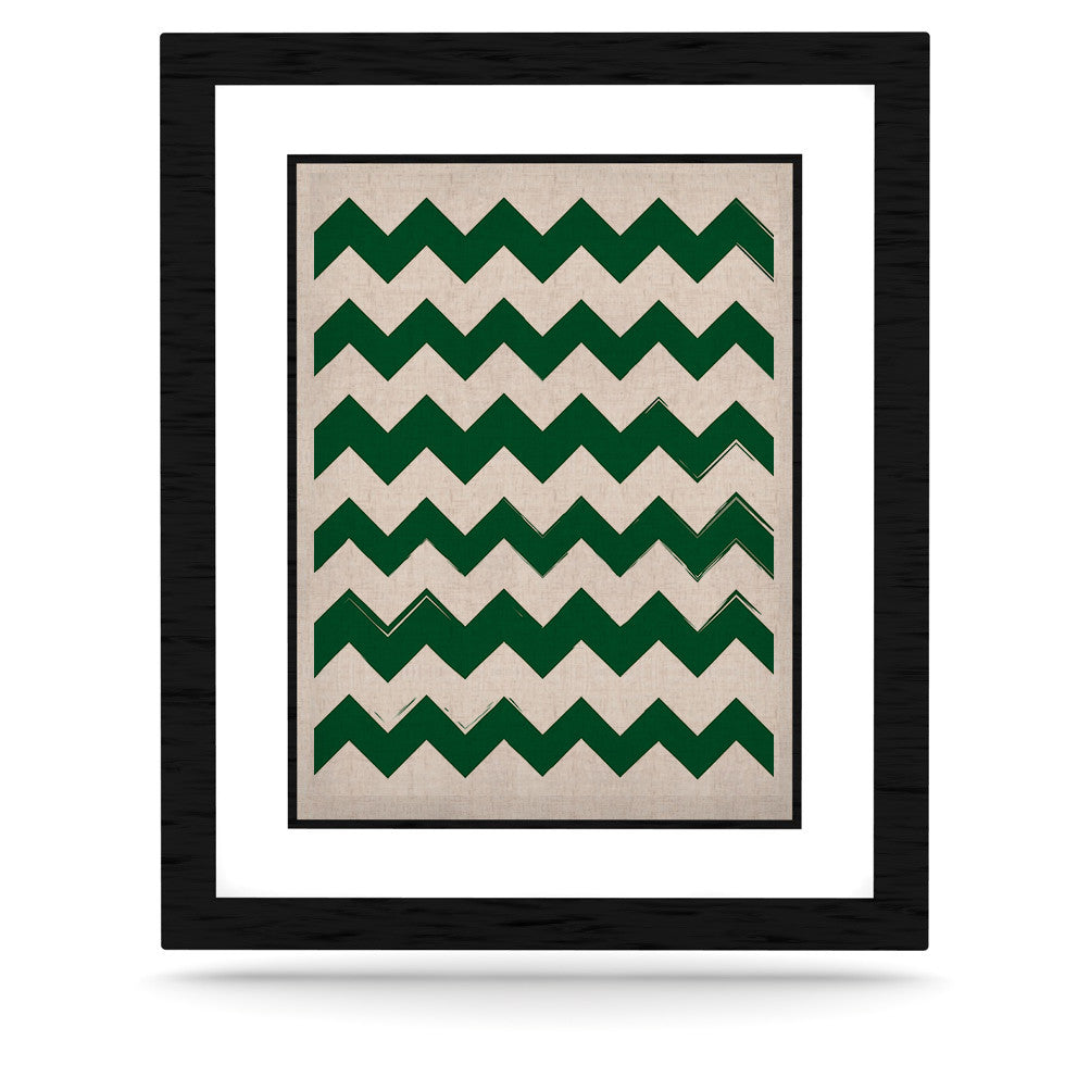 "KESS Original ""Candy Cane Green"" Chevron KESS Naturals Canvas (Frame not Included) - KESS InHouse  - 1"