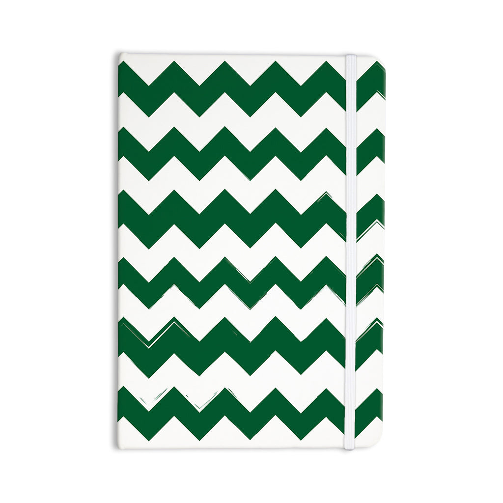 "KESS Original ""Candy Cane Green"" Chevron Everything Notebook - KESS InHouse  - 1"