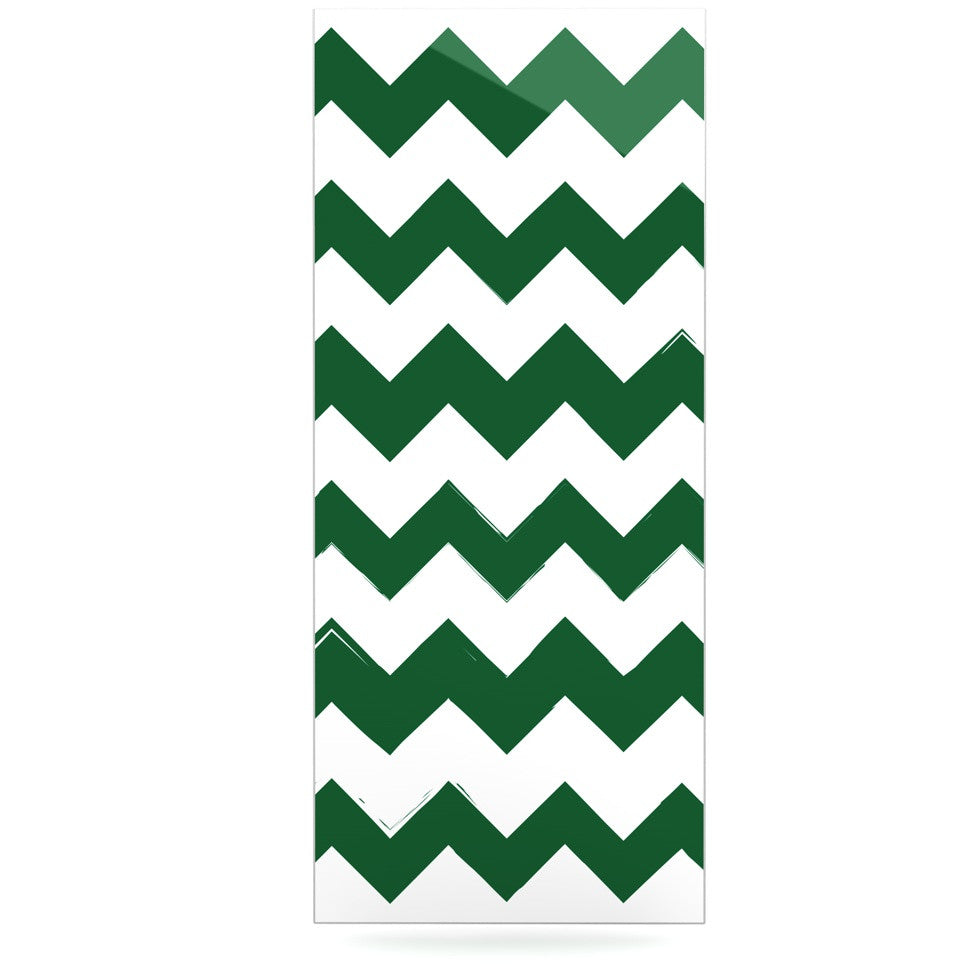 "KESS Original ""Candy Cane Green"" Chevron Luxe Rectangle Panel - KESS InHouse  - 1"