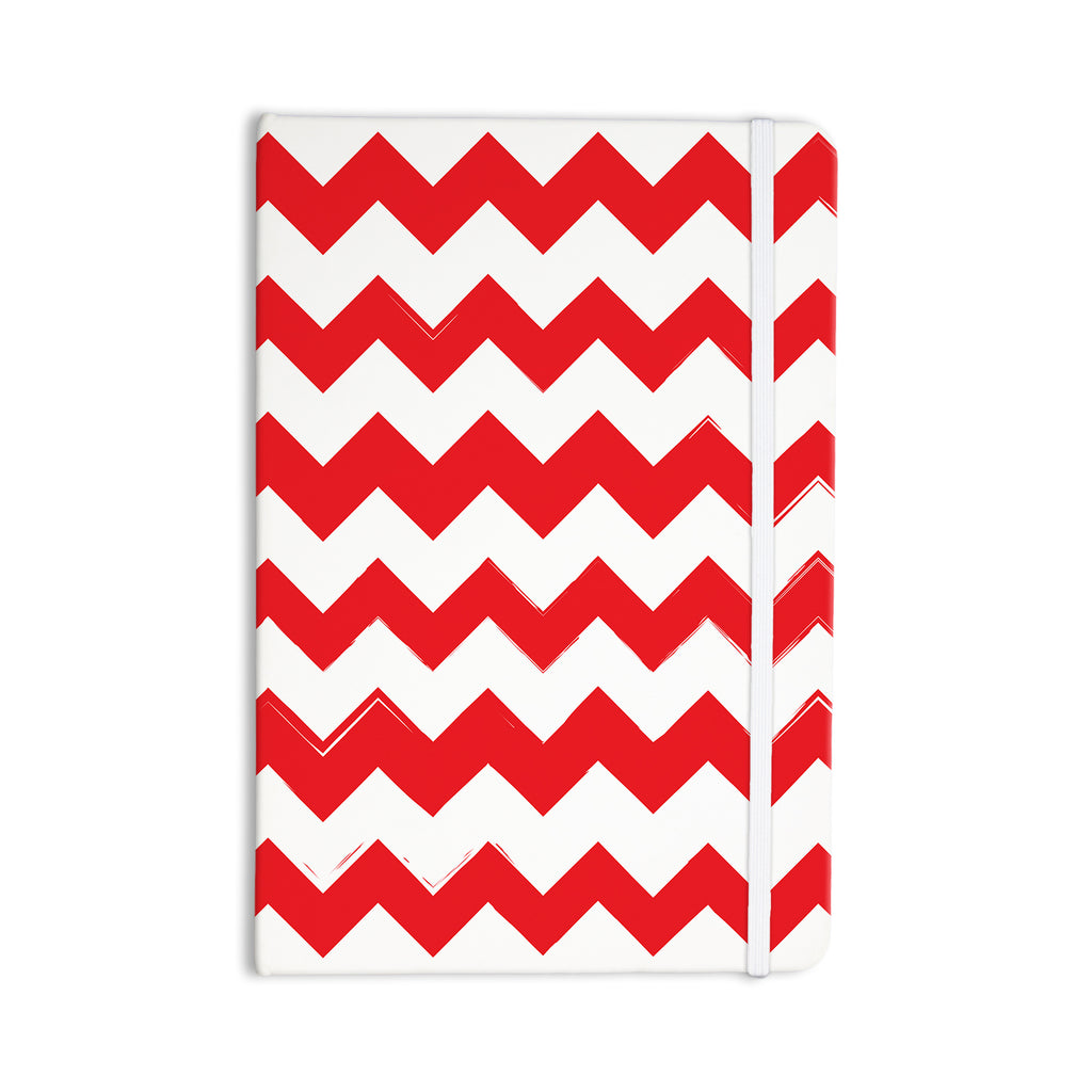 "KESS Original ""Candy Cane Red"" Chevron Everything Notebook - KESS InHouse  - 1"
