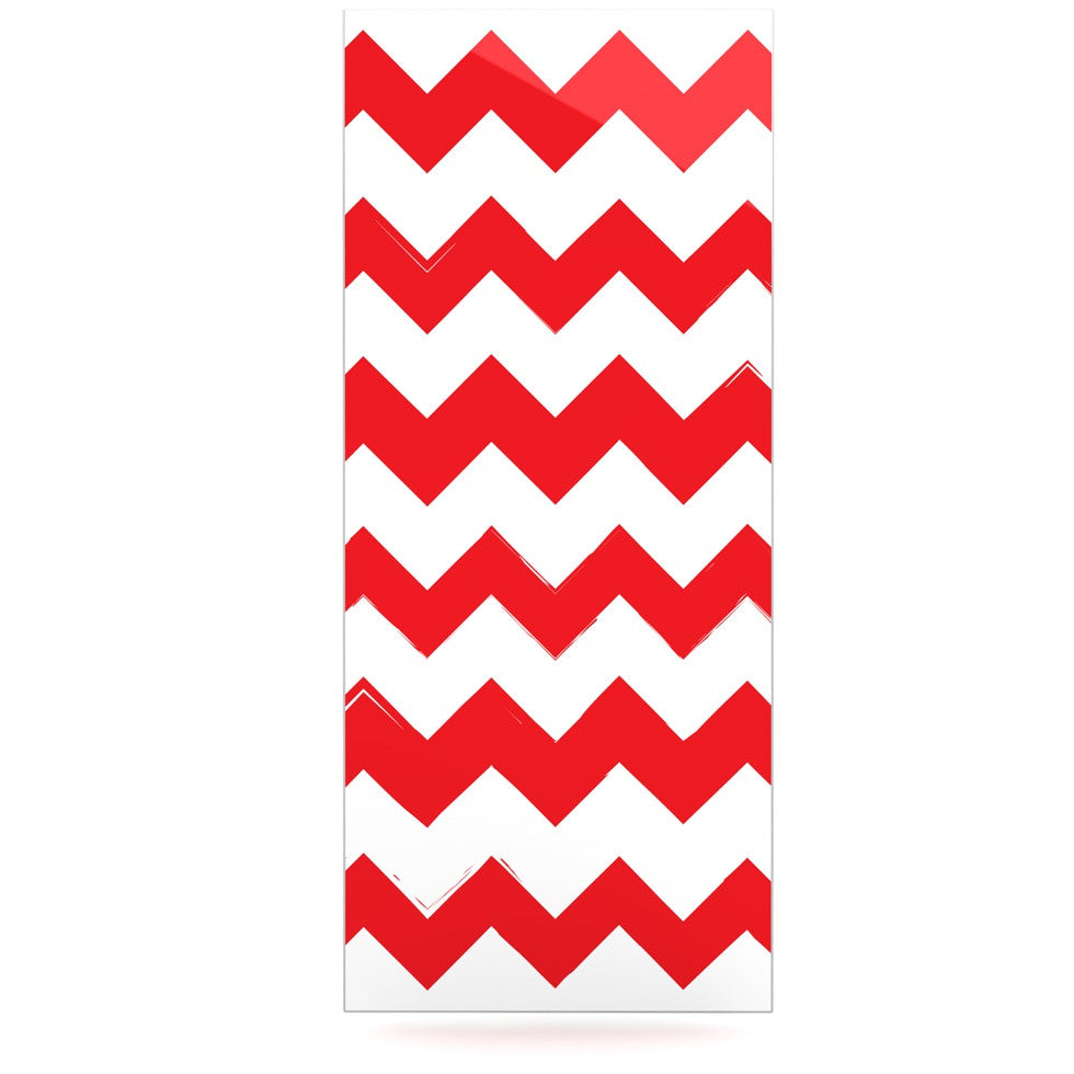 "KESS Original ""Candy Cane Red"" Chevron Luxe Rectangle Panel - KESS InHouse  - 1"