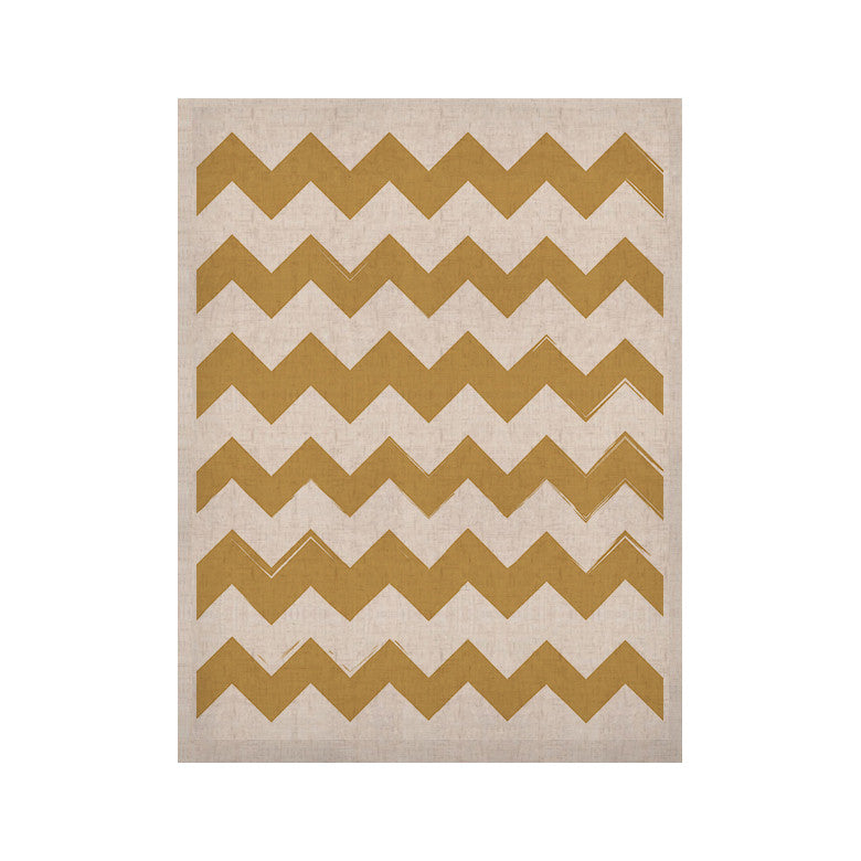 "KESS Original ""Candy Cane Gold"" Chevron KESS Naturals Canvas (Frame not Included) - KESS InHouse  - 1"