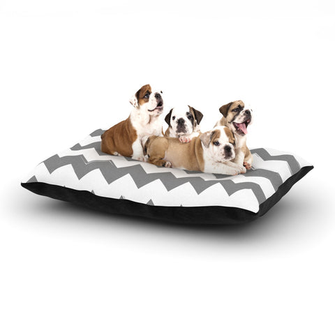 "KESS Original ""Candy Cane Gray"" Chevron Dog Bed - Outlet Item"