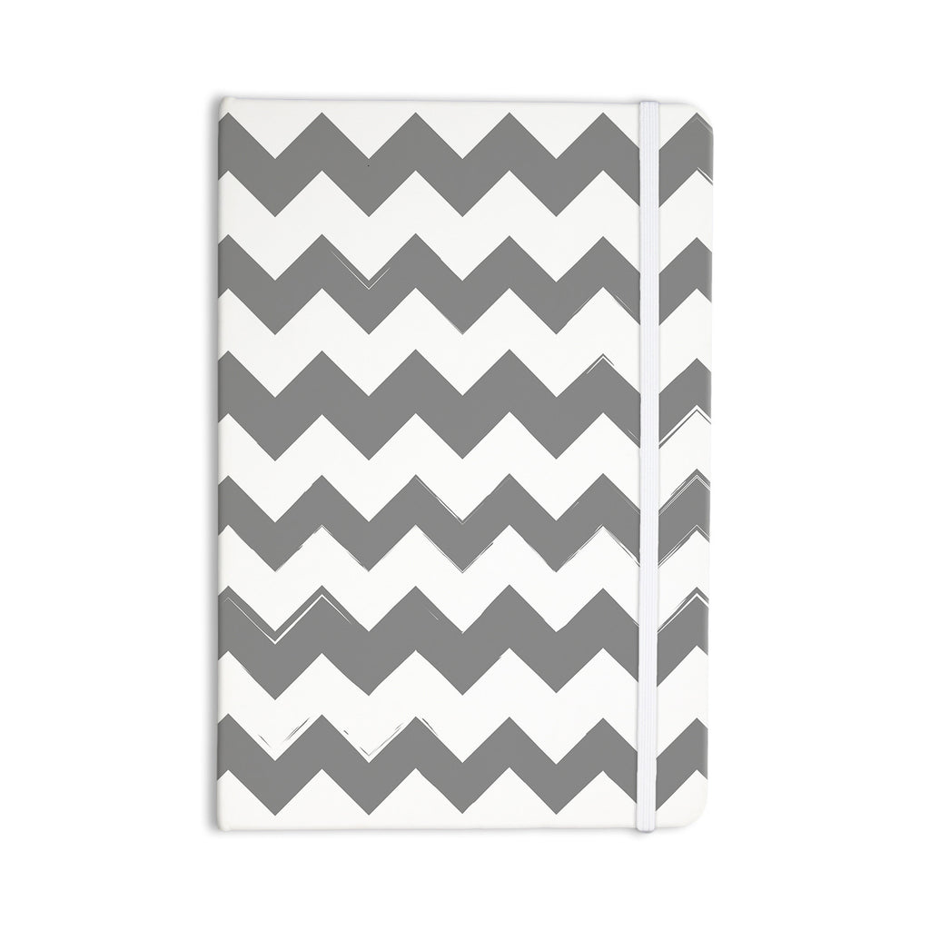 "KESS Original ""Candy Cane Gray"" Chevron Everything Notebook - KESS InHouse  - 1"