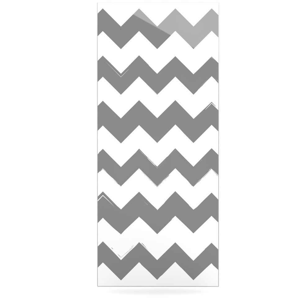 "KESS Original ""Candy Cane Gray"" Chevron Luxe Rectangle Panel - KESS InHouse  - 1"