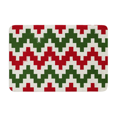"KESS Original ""Christmas Gram"" Chevron Memory Foam Bath Mat - Outlet Item"