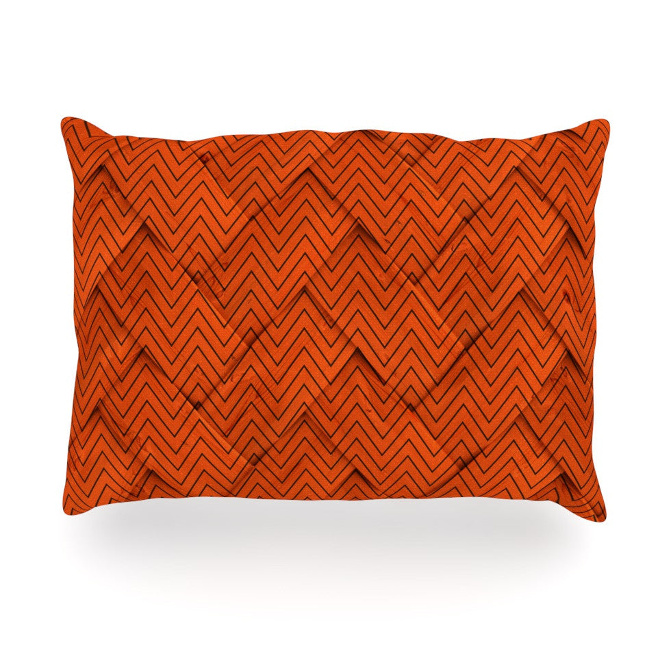 "KESS Original ""Chevron Weave"" Oblong Pillow - KESS InHouse"