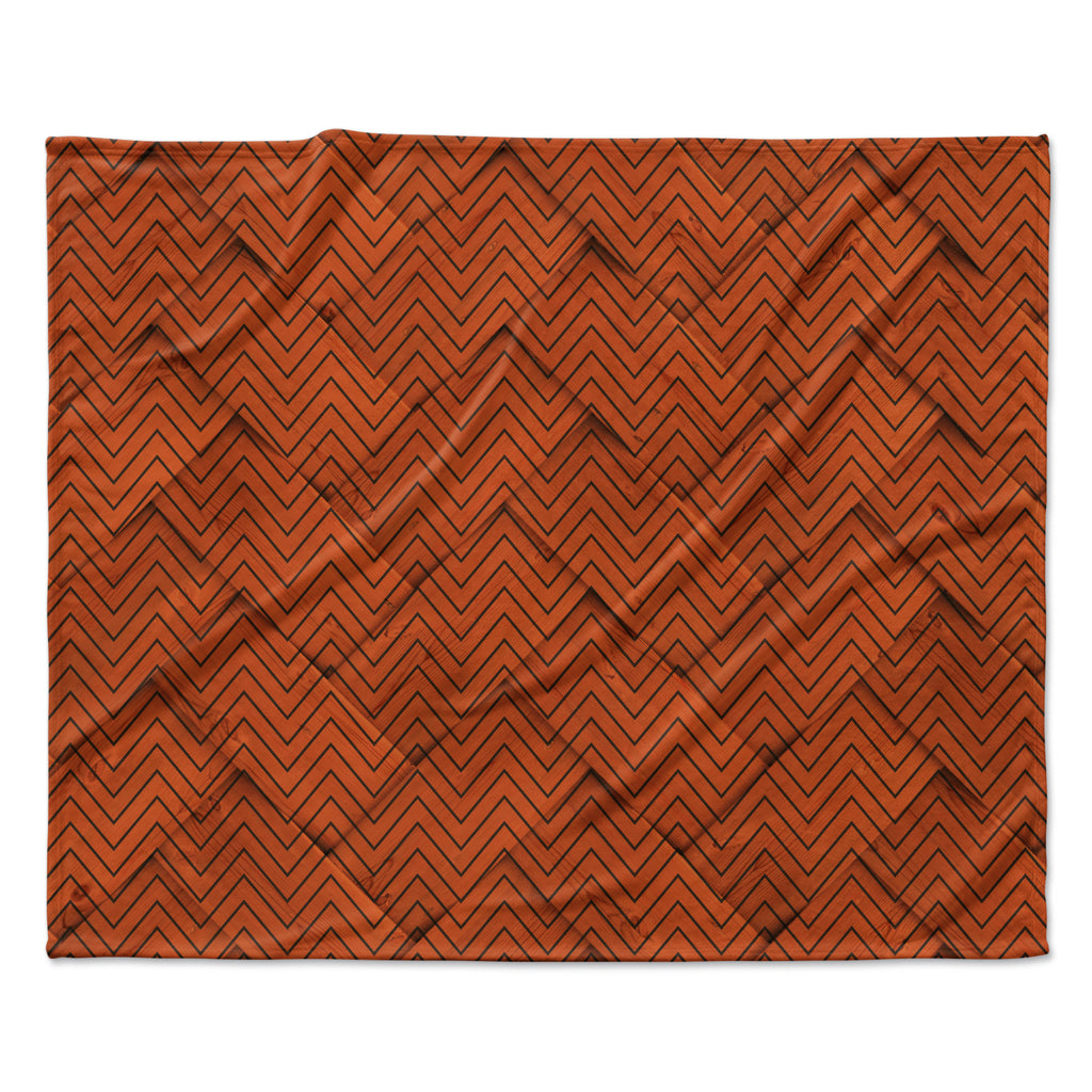 "KESS Original ""Chevron Weave"" Fleece Throw Blanket"