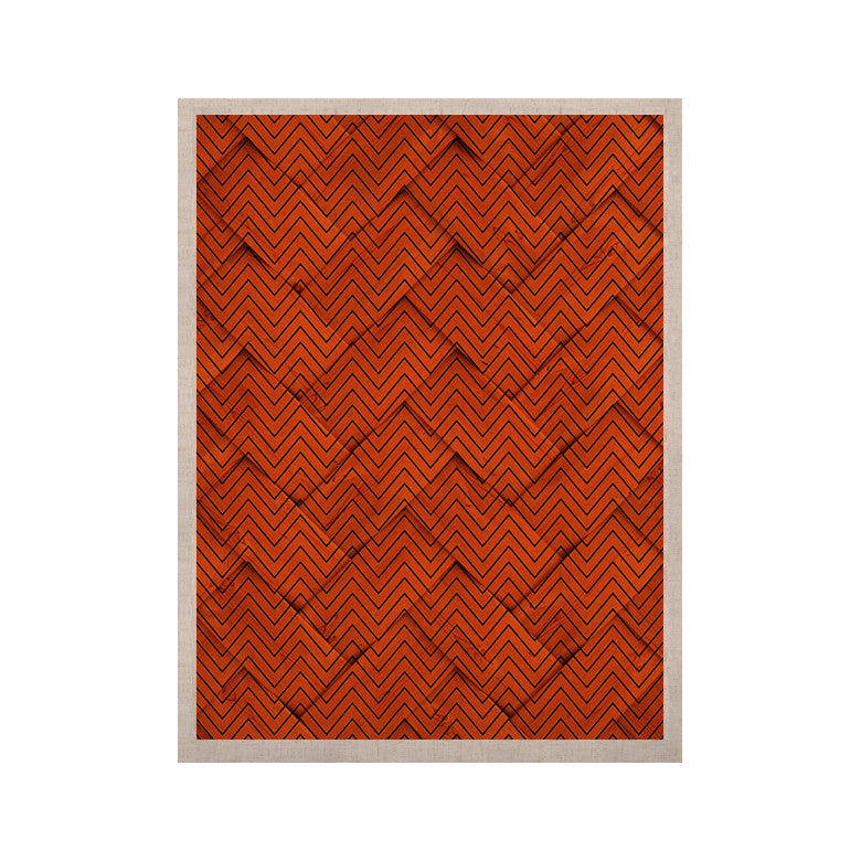 "KESS Original ""Chevron Weave"" KESS Naturals Canvas (Frame not Included) - KESS InHouse  - 1"