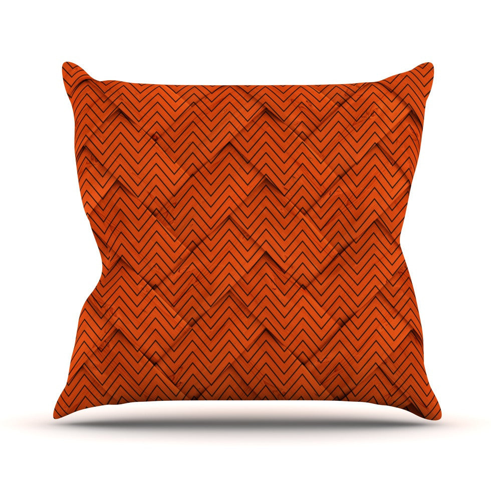 "KESS Original ""Chevron Weave"" Outdoor Throw Pillow - KESS InHouse  - 1"
