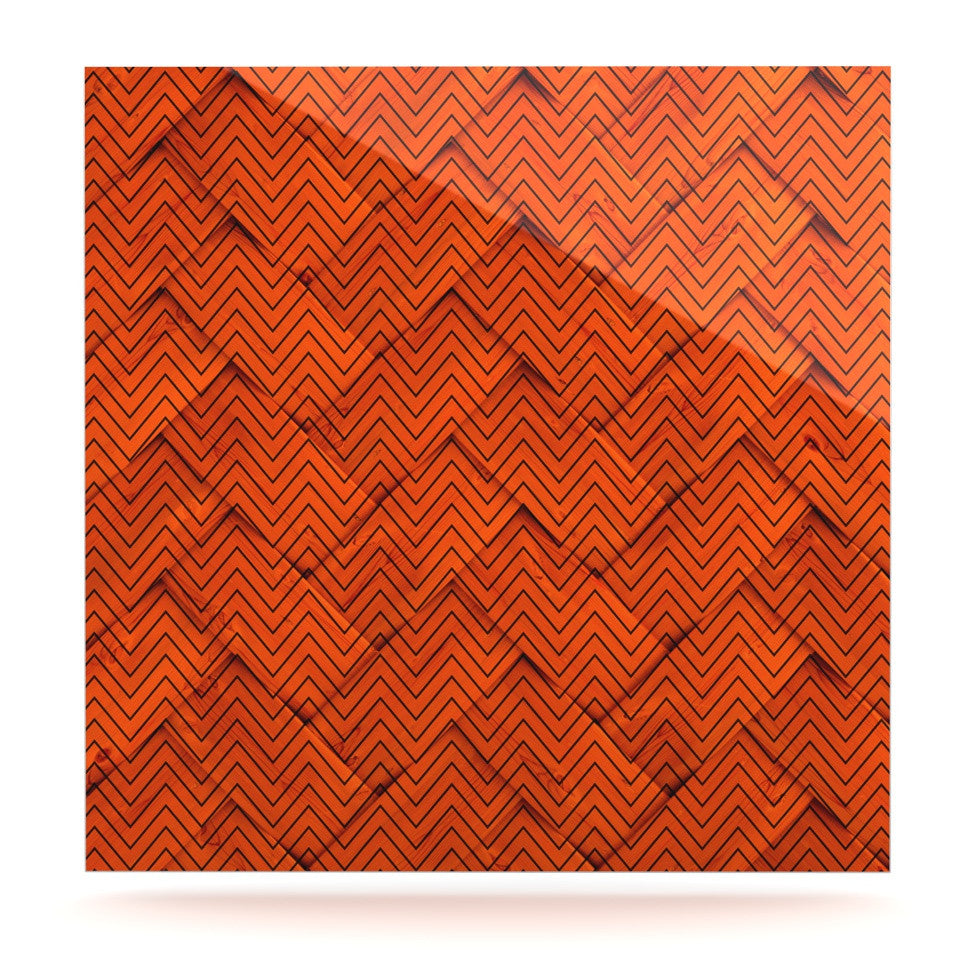 "KESS Original ""Chevron Weave"" Luxe Square Panel - KESS InHouse  - 1"