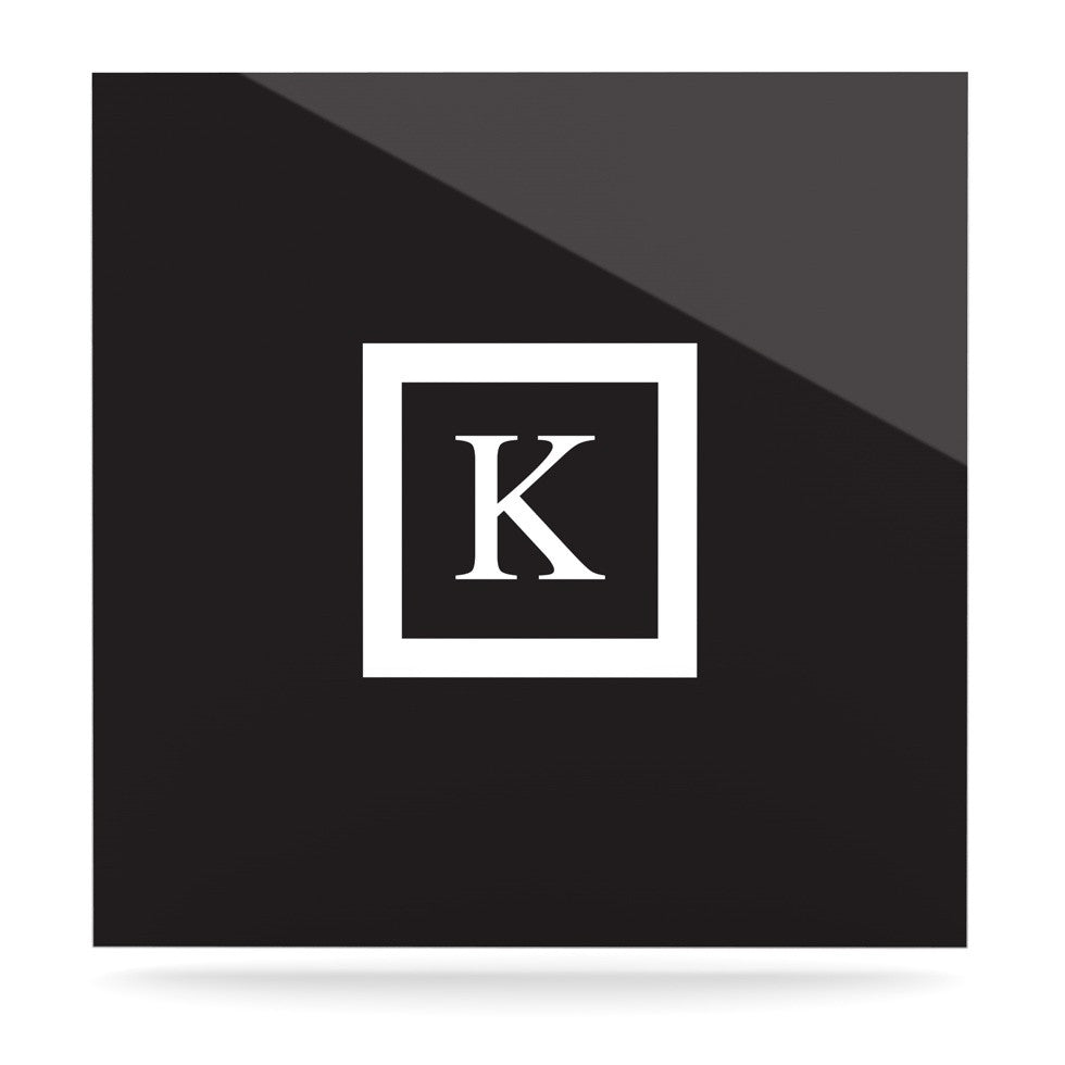 "KESS Original ""Monogram Solid Black"" Luxe Square Panel - KESS InHouse  - 1"