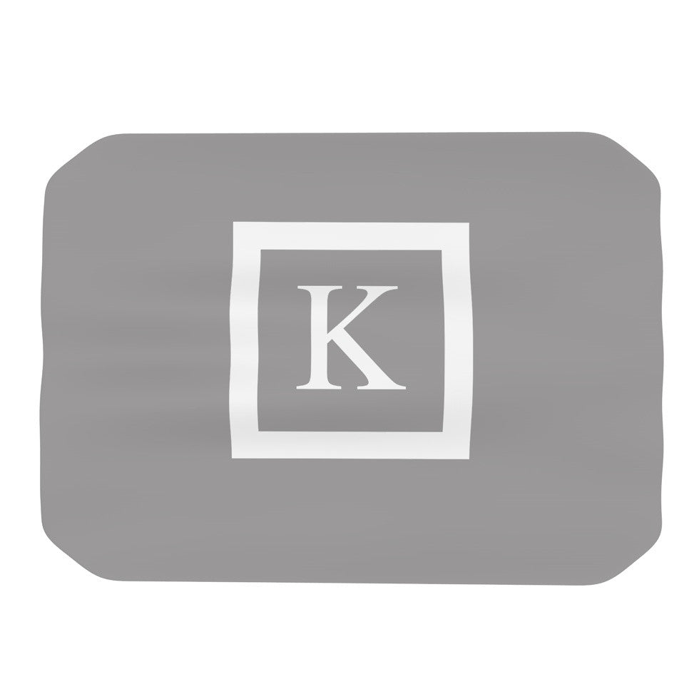 "KESS Original ""Monogram Solid Grey"" Place Mat - KESS InHouse"