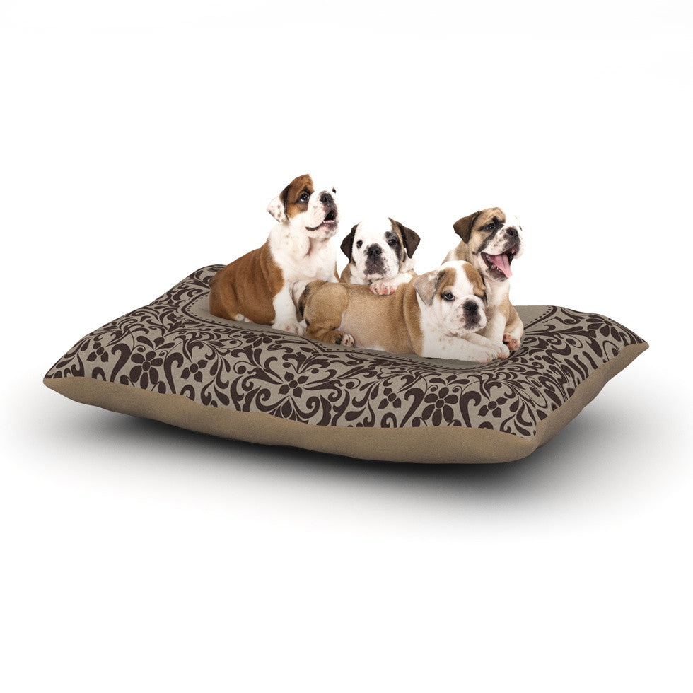 "KESS Original ""Damask"" Custom Dog Bed - KESS InHouse  - 1"