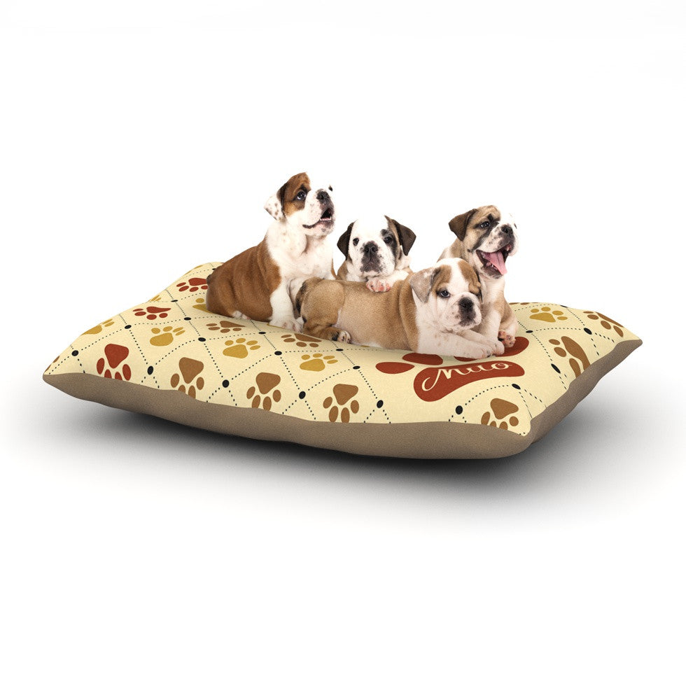 "KESS Original ""Paw Prints"" Custom Dog Bed - KESS InHouse  - 1"