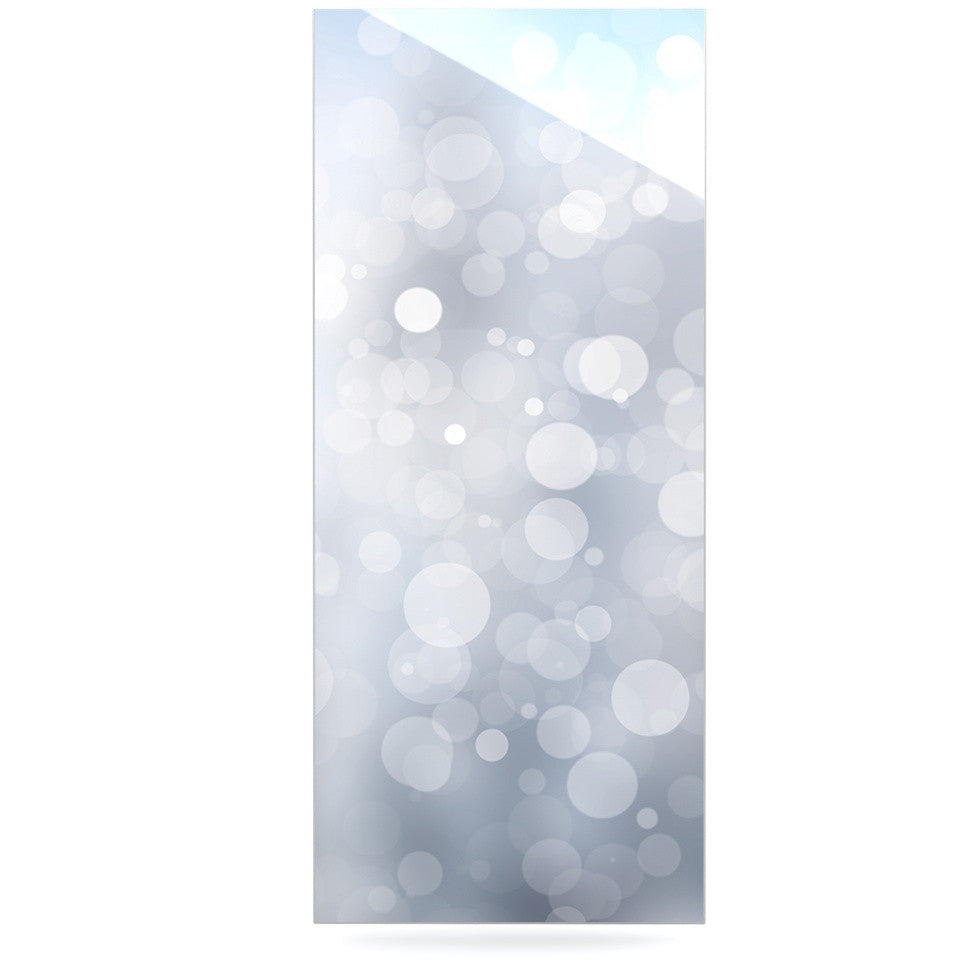 "KESS Original ""Glass"" Gray Bokeh Luxe Rectangle Panel - KESS InHouse  - 1"
