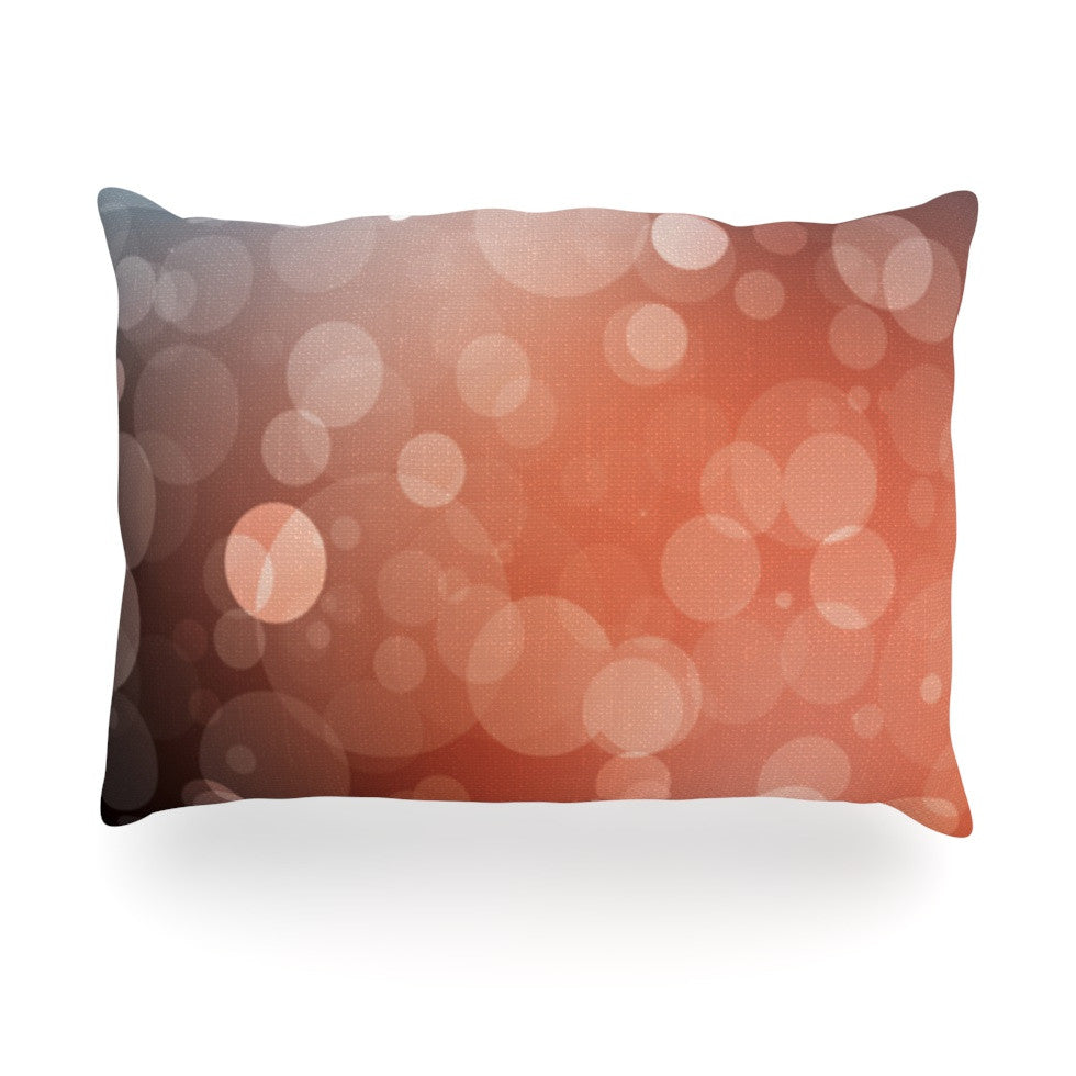 "KESS Original ""Sunset"" Orange Bokeh Oblong Pillow - KESS InHouse"