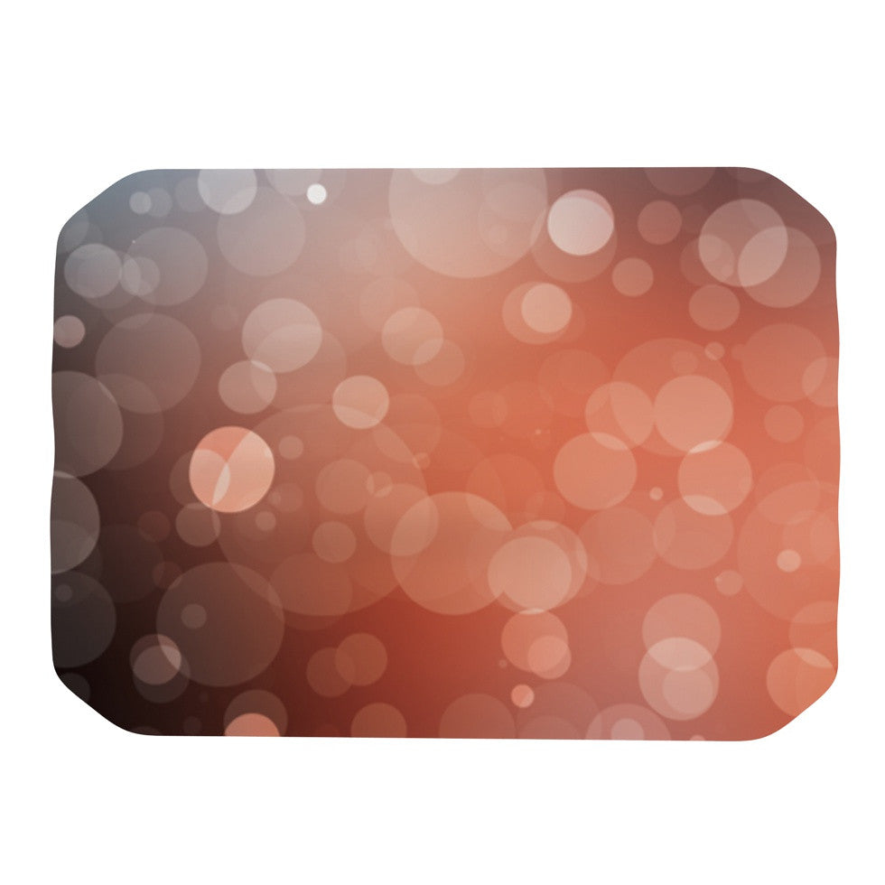 "KESS Original ""Sunset"" Orange Bokeh Place Mat - KESS InHouse"