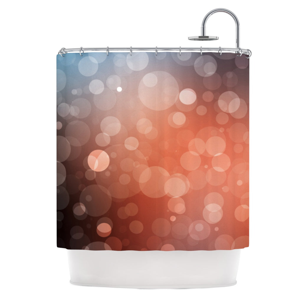 "KESS Original ""Sunset"" Orange Bokeh Shower Curtain - KESS InHouse"