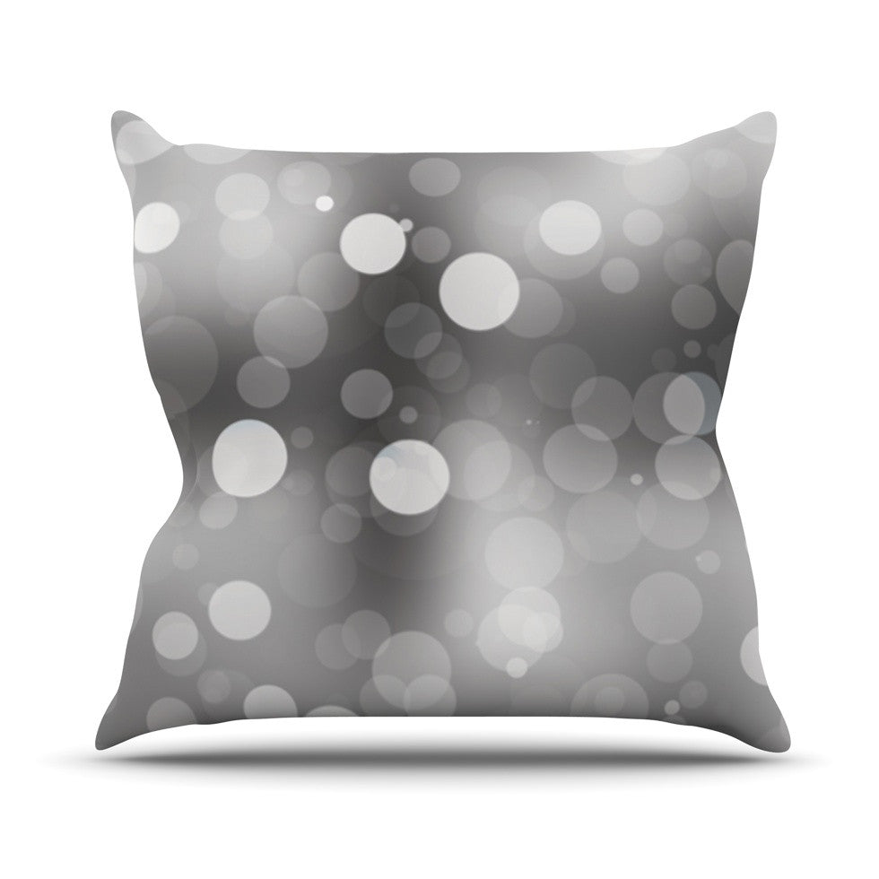 "KESS Original ""Spectral"" Gray Bokeh Outdoor Throw Pillow - KESS InHouse  - 1"