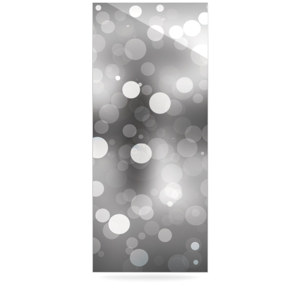 "KESS Original ""Spectral"" Gray Bokeh Luxe Rectangle Panel - KESS InHouse  - 1"