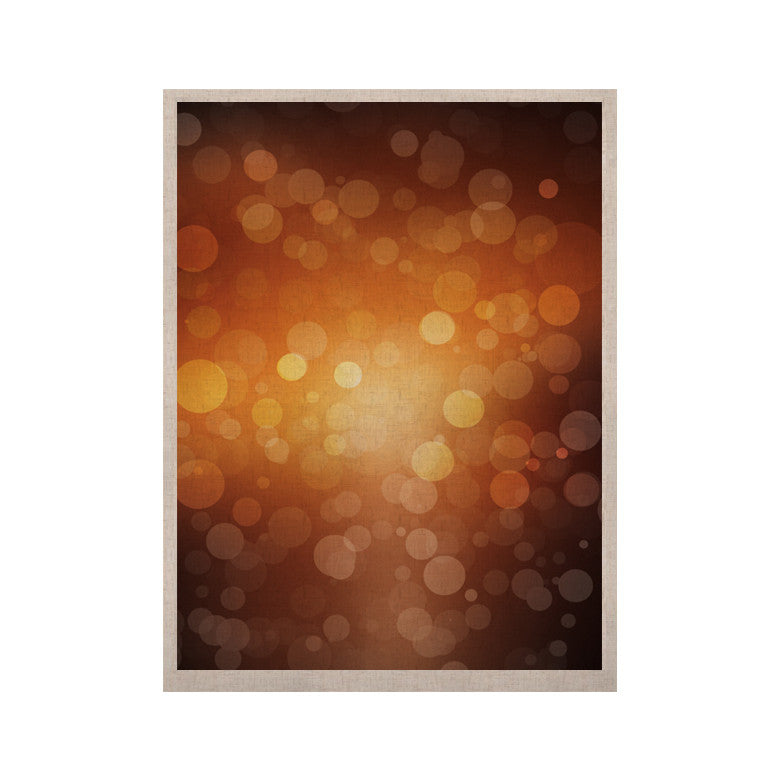 "KESS Original ""Sunrise"" Orange Bokeh KESS Naturals Canvas (Frame not Included) - KESS InHouse  - 1"