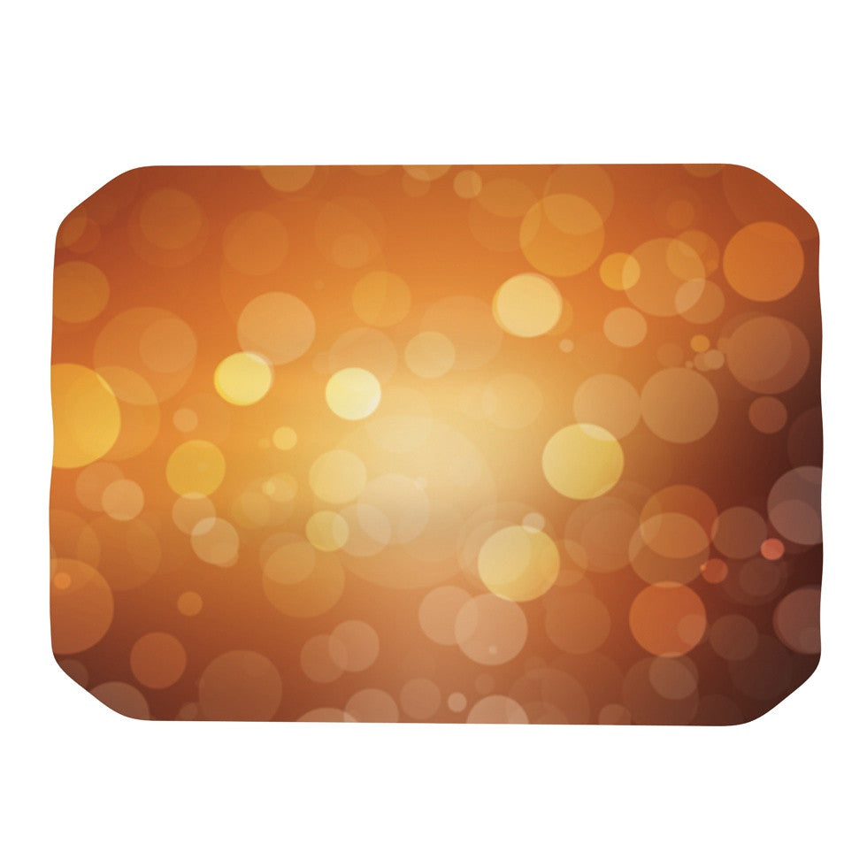 "KESS Original ""Sunrise"" Orange Bokeh Place Mat - KESS InHouse"